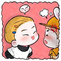 #Fanart #Xiumin #Suho #EXO Cr.yooocookie