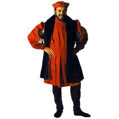 Christophe Colomb code produit : 944-012 5 pièces : Robe, Pantalon, Gilet, Ceinture et Coiffe. Taille(s) : 50