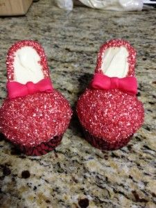 Ruby Red (edible) Slippers - cupcakes!!