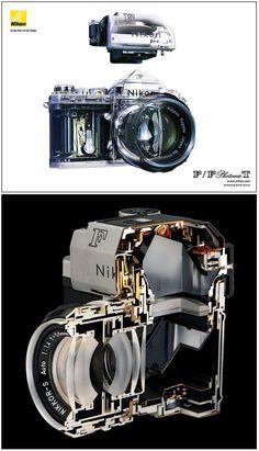 """【Nikon】ニコン""""F"""" 一眼レフフィルムカメラ透視図"""