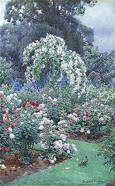 The Rose Garden by Beatrice Parsons. With E.T. Cook, she wrote Gardens of England (1908) in which they promoted gardens in the Arts and Crafts style.