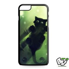 Green Water Black Cute Cat iPhone 6 Plus Case | iPhone 6S Plus Case