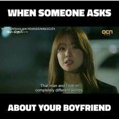 Kdrama: W two worlds Korean Drama Funny, Korean Drama Quotes, Kdrama Memes, Funny Kpop Memes, Bts Memes, K Pop, K Meme, Drama Fever, W Two Worlds