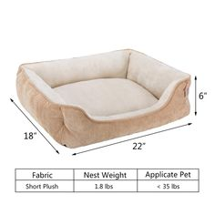Hollypet Rectangle Plush Dog Cat Bed Self-Warming Pet Bed