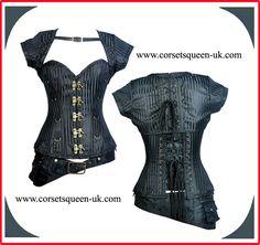 b9db45094b8 Aadhya Steampunk Overbust Corset www.corsetsqueen-uk.com. Corsets Queen
