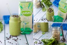 Mint Chocolate Chip Smoothie ....made with spinach, bananas and mint tea.  I hope this is good!
