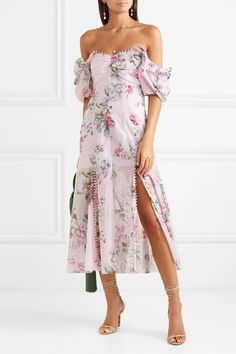 Alice McCall Send Me A Postcard Floral-print Cotton And Silk-blend Midi Dress - Lilac , Cocktail Bridesmaid Dresses, Cocktail Dresses, Dress Outfits, Fashion Outfits, Trendy Fashion, Spring Fashion, Women's Fashion, Best Wedding Guest Dresses, Lilac Dress