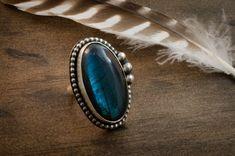 Items similar to Labradorite Ring. on Etsy Rock Rings, Labradorite Ring, Statement Rings, Gemstone Rings, Gemstones, Unique Jewelry, Handmade Gifts, Etsy, Vintage