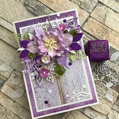 Ideas For Birthday Happy Card Design Flowers Album Scrapbook, Birthday Card Template, Shabby Chic Cards, Spellbinders Cards, Fancy Fold Cards, Pretty Cards, Birthday Greeting Cards, Paper Cards, Flower Cards