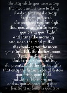 You bring your light...