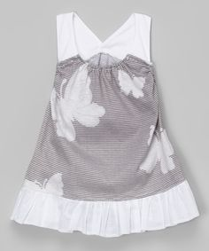 Loving this Gray Butterfly Racerback Dress - Infant on #zulily! #zulilyfinds
