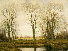Arnold Gorter (Dutch, 1866-1933). Landscape with Boat, ca. 1905 - 1910. Charles and Emma Frye Collection, 1952.052