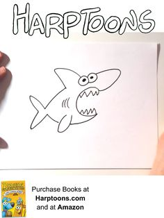 Harptoons, where artists can draw, create, and imagine. Learn how to turn number and letter into amazing drawings Shark Drawing, Baby Drawing, How To Make Drawing, Drawing For Kids, Bullet Journal For Kids, How To Drow, Sharks For Kids, Shark Art, Amazing Drawings