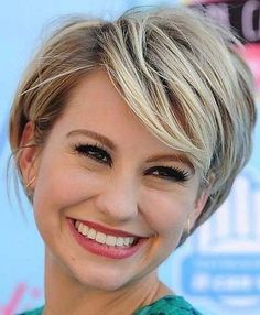Short hairstyles with side bangs for square faces with straight hair