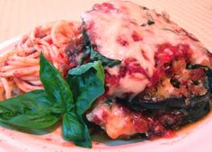 (Freezer) Basil Eggplant Parmesan   OAMC from Once A Month Mom