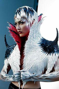 """Urban Fairytale"" —  Photographer: Diana Luckysova - Luckysova Studios Designer: CHERNOBYL SHOW DESIGN Makeup/Bodypainter: Evgeniya Golik Model: Tatiana DeKhtyar  #DarkBeauty #DarkBeautyMag #fashion #photography"