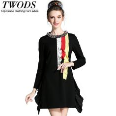 L- 5XL Luxury Crystal Beading Frill Detail Autumn Dress Long Sleeve Slim Cut Waist Short Mini 4XL Oh Yeah http://www.artifashion.net/product/l-5xl-luxury-crystal-beading-frill-detail-autumn-dress-long-sleeve-slim-cut-waist-short-mini-4xl/ #shop #beauty #Woman's fashion #Products