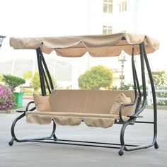9 Cool and Cozy Patio Swing with Canopy Designs - CanopyKingpin.com | Home - Lawn u0026 Garden | Pinterest | Patio swing Swings and Patios  sc 1 st  Pinterest & 9 Cool and Cozy Patio Swing with Canopy Designs - CanopyKingpin ...