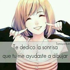 Con mi sonrisa te enseñaré que soy fuerte sin importar lo que me pase Happy Love, Sad Love, Beautiful Love, Cute Love, Sad Anime, Anime Love, Kawaii Anime, Words Can Hurt, Quotes En Espanol