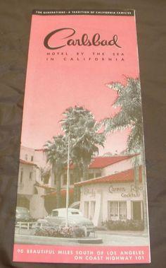 Carlsbad Hotel by the Sea California Brochure 1948-49 M/Nm