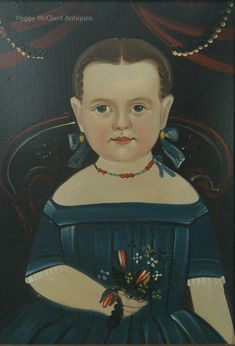 Young Girl by Sturtevant J. Hamblin (1817-1884) Portland,Maine