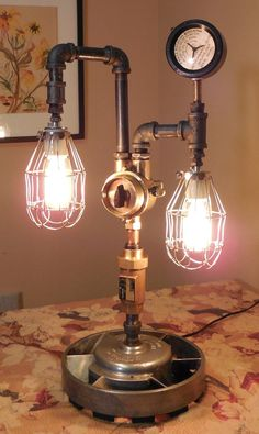 Steampunk Lamp Industrial Nautical Architectural by USARelics, $275.00