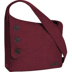 Ogio Brooklyn Shoulder Bag (3.265 RUB) ❤ liked on Polyvore featuring bags, messenger bags, purple, women's messenger bags, zip bag, red shoulder bag, shoulder strap bags, courier bags and purple crossbody bag