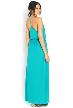 Show Off T-Back Maxi Dress