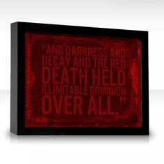 My favorite Edgar Allan Poe quote of all time.
