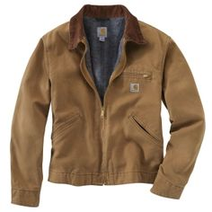 Jackets :: Carhartt Weathered Duck Detroit Jacket - Carhartt Brown - RNJ001 - WorkingGear