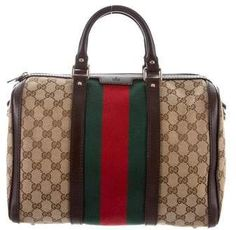 1cabf6430e0 Gucci Vintage Web Original Boston Bag Hermes, Portemonnees En Handtassen, Gucci  Handtassen, Gucci