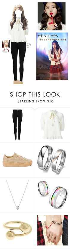 """Audition for Gone Girl~Luna"" by luna-from-dna ❤ liked on Polyvore featuring Dr. Denim, Puma, Links of London, West Coast Jewelry and J.W. Anderson"