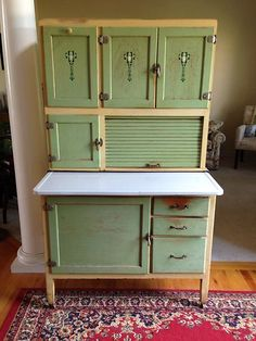 Hoosier Cabinet, love the two different tones