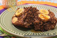 Quer uma delícia pro #lanche? É super fácil, nutritiva, saborosa esse Bolo de Banana e Aveia Sem Farinha e Sem Lactose.  #Receita aqui: http://www.gulosoesaudavel.com.br/2015/11/13/bolo-banana-aveia-sem-farinha/