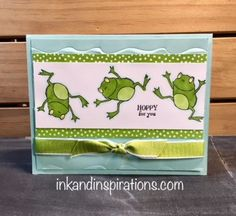 Lisa Brown, Independent Stampin' Up! Demonstrator performs stamp surgery to make a cute handmade card. Birthday Card Puns, Kids Birthday Cards, Handmade Birthday Cards, Birthday Greeting Cards, Stampin Up Karten, Hand Made Greeting Cards, Stamping Up Cards, Get Well Cards, Animal Cards