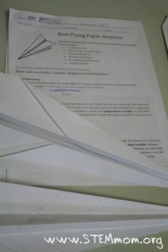 Airplane Lab to Teach Scientific Method -- This is an amazing free lesson complete with handouts and directions!
