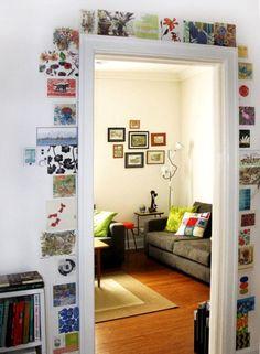 Cómo decorar una puerta. Y si probamos con marcapáginas???