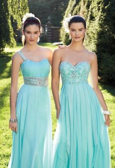 Prom Dresses 2013 - Chiffon Strapless Long Dress with Beaded Empire from Camille La Vie and Group USA