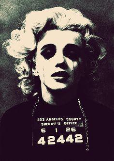 Marilyn Monroe Mug Shot