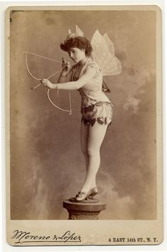 Vintage allure--Victorian cards of fabulous (and, at the time, quite racy) corseted costumery.