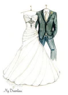 Wedding dress sketch gallery pinterest for I give it a year wedding dress