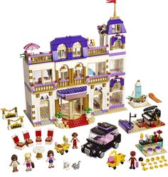 68.99$  Watch here - http://alimqq.worldwells.pw/go.php?t=32766854762 - BELA Friends Series Heartlake Grand Hotel Building Blocks Classic For Girl Kids Model Toys Minifigures Marvel Compatible Lepin