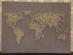26x16 world map string art reverse string art por distantrealms string art world map buscar con google gumiabroncs Gallery