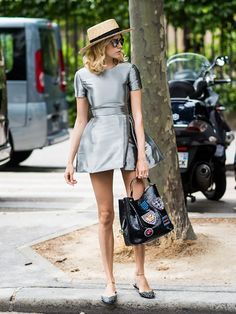 Tip Of The Day: How To Wear A Party Dress During The Day via @WhoWhatWear