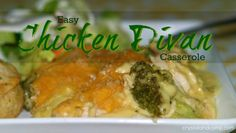 Easy Chicken Divan Casserole - Very similar to our broccoli and cheese casserole - worth a try! Source by wallpaper Chicken Divan Casserole, Chicken Divan Recipe, Roast Chicken And Gravy, Cream Of Chicken Soup, Recipes Using Rotisserie Chicken, Chicken Recipes, Turkey Recipes, Pot Roast Brisket, Beef Tenderloin