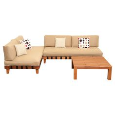 A stylish addition to your patio or poolside deck, this delightful eucalyptus wood seating group set features 2 loungers and a complementing coffee table.  ...