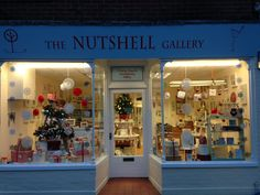 Our Christmas window, with a tree made from a vintage ladder!