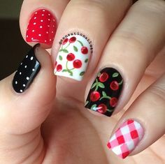 Cherry Nails | Yummy Fruit Nail Art Designs On Instagram To Drool Over