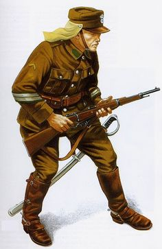 Greek Army corporal 1921 - pin by Paolo Marzioli Military Men, Military History, Army Uniform, Military Uniforms, Greek Warrior, Greek History, Military Diorama, World War Ii, Wwii