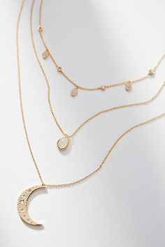 Slide View: 2: Over The Moon Layered Necklace